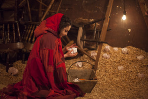 Annabel Betts as Little Red Riding Hood (Photo: Tom Medwell)