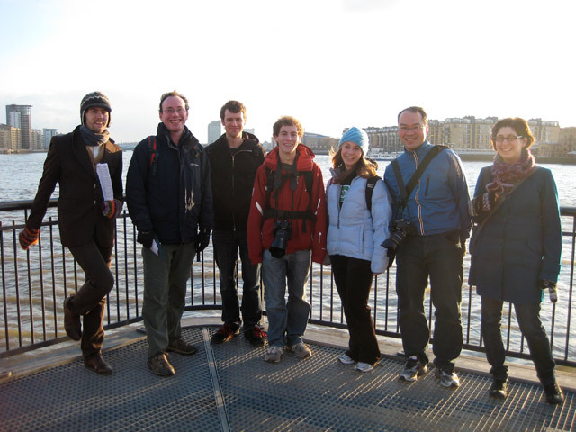 The 8 who made it all the way! Somewhere on the Thames Path near Wapping. By Lindsey.