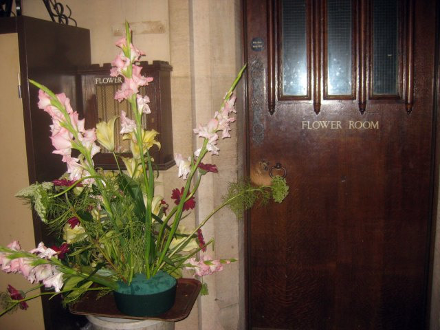 Between bars, you find all kinds of strange cupboards. Here's the flower room.