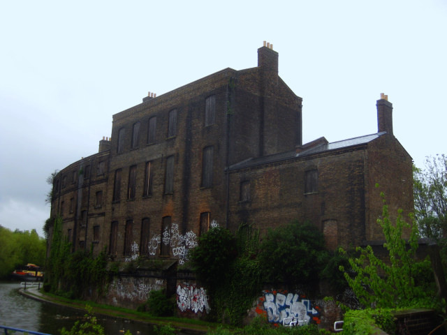 The old fish and coal offices on Regent's Canal. Haven for graffiti taggers and robotic fish.