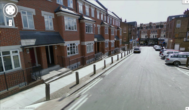 Barnard Road - site of former MI5 garage (image from Google Streetview)