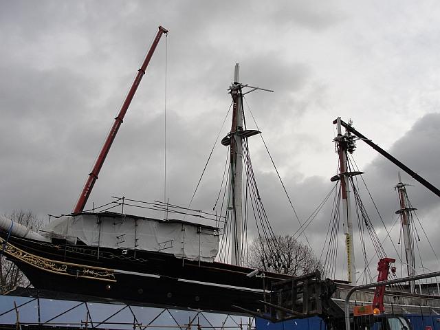 The restored masts