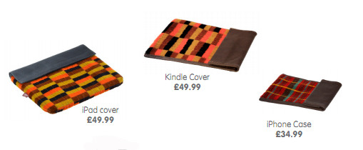 Get a cover for your iPad, iPhone or Kindle in the style of a Tube moquette.