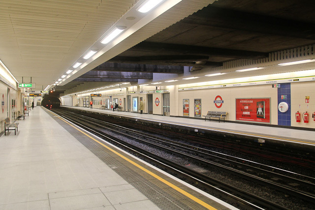 View from the westbound platform