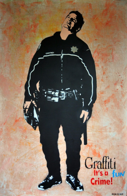 Blek le Rat, Graffiti is a fun crime