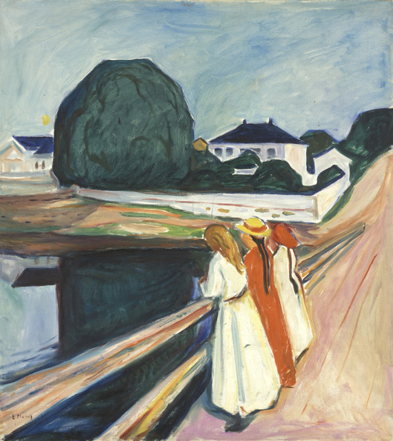 The Girls on the Bridge by Edvard Munch