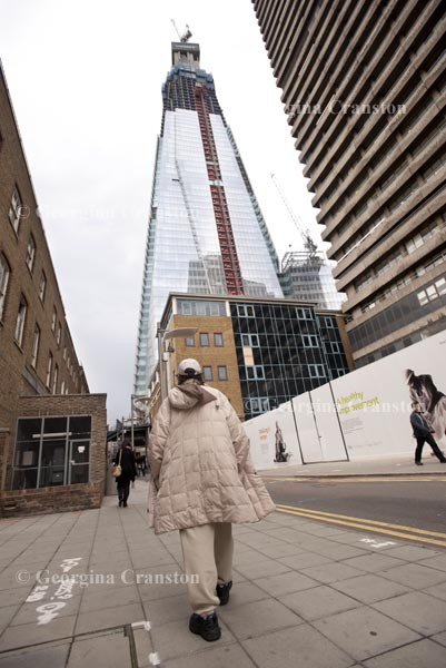 Jakki, 46, out and about in London where she used to rough sleep before moving into a hostel.