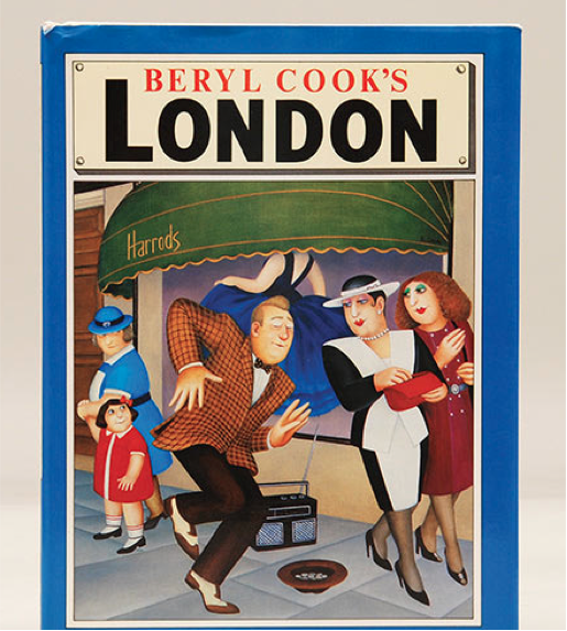 Beryl Cook's London, 1988. First edition, first impression. Signed on the title page by Beryl Cook (£80).
