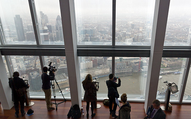 View of those viewing the view from the Shard.