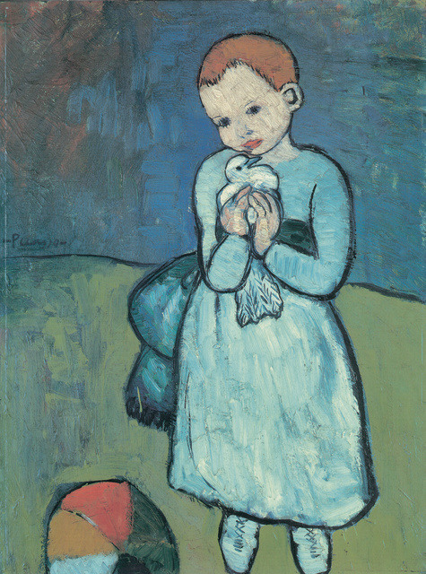 Pablo Picasso (1881-1973) Child with a Dove, 1901 Oil on canvas, 73 x 54 cm Private collection