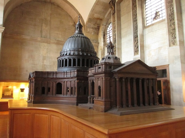 The famous model of the cathedral.