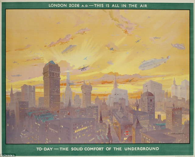 """""""London 2026 AD; this is all in the air"""", Montague Black, 1926"""