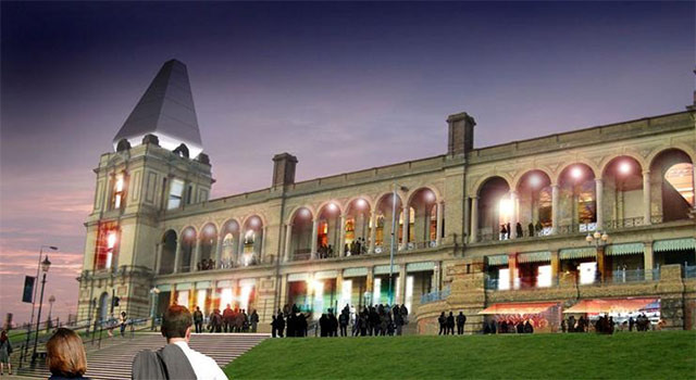 The South Terrace, converted into cafes and restaurants