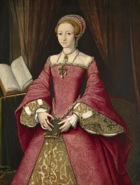 Attributed to William Scrots, Elizabeth I when a Princess, c.1546  Royal Collection Trust / (C) Her Majesty Queen Elizabeth II 2013.