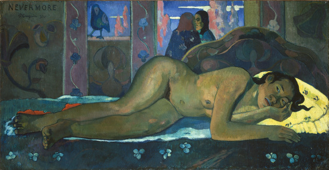 Paul Gauguin (1848-1903) Nevermore, 1897. © The Courtauld Gallery, London