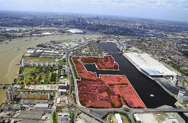 Silvertown Quays development area.