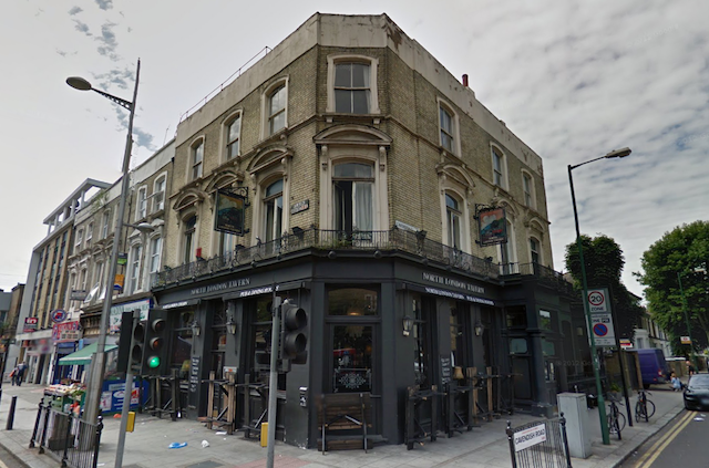The North London Tavern, our joint winner. From Street View.