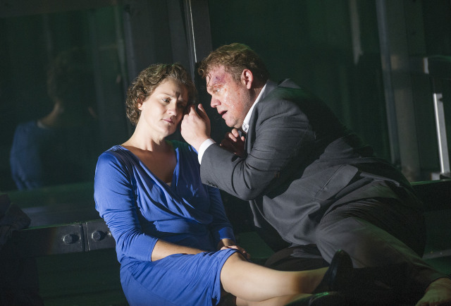 A scene from Fidelio by Beethoven @ London Coliseum. An English National Opera production. Directed by Calixto Bieito. Conducted by Edward Gardner. (Opening 25-09-13) ©Tristram Kenton 09/13 (3 Raveley Street, LONDON NW5 2HX TEL 0207 267 5550  Mob 07973 617 355)email: tristram@tristramkenton.com