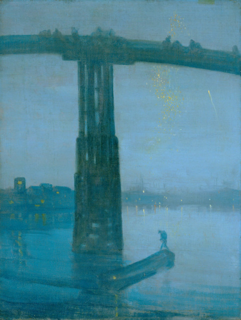 James Abbott McNeill Whistler, Nocturne: Blue and Gold ‐ Old Battersea Bridge. Image courtesy Tate, London.