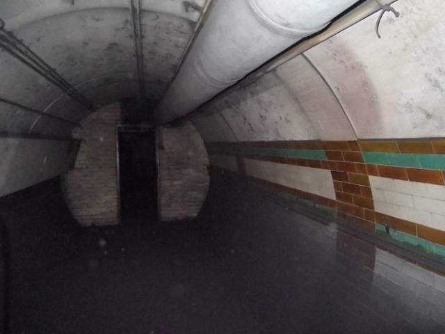 A lower tunnel.