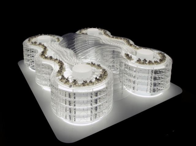 Biomimetic office building. Image courtesy Exploration Architecture.