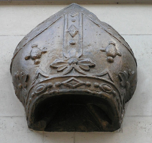 Where would you find this mitre?