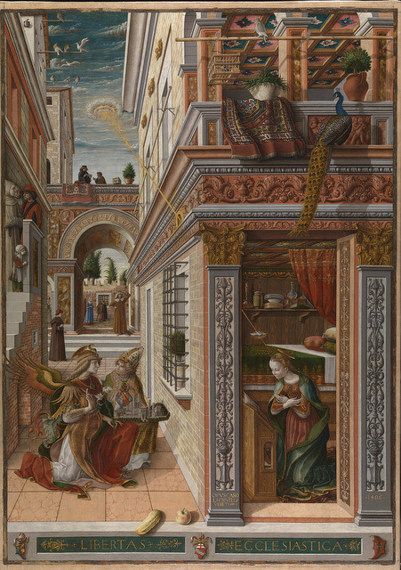 Carlo Crivelli  The Annunciation, with Saint Emidius, 1486 © The National Gallery, London