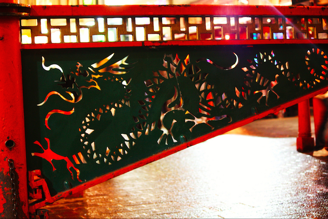 Chinatown Gate, complete with dragon, by Stephanie Sadler