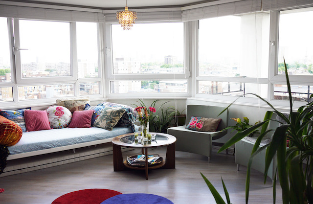 Claire's creative tower block apartment in Shoreditch