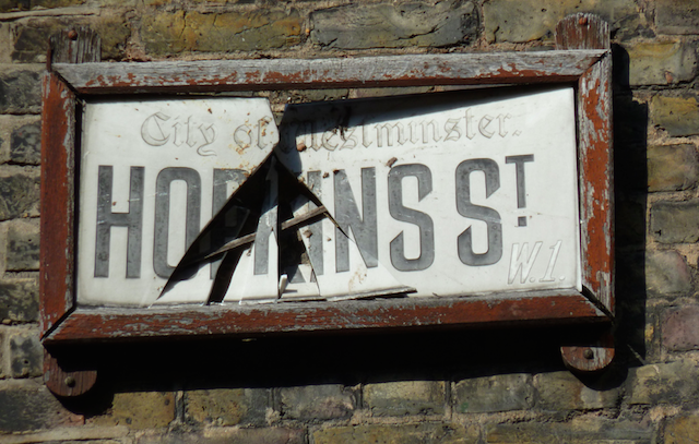 It seems that someone took a disliking to Hopkins St's moniker.