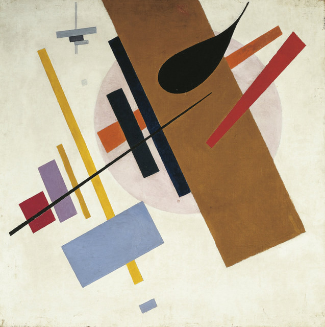 DGA579616 Russia, painting of Suprematism; (add.info.: Kazimir Severinovich Malevich (1879-1935), Suprematism, ca. 1917.  Artwork-location: Krasnodar, Museo D'Arte A.W.Lunascharski); De Agostini Picture Library / E. Lessing; FRENCH PUBLISHING RIGHTS NOT AVAILABLE;  out of copyright