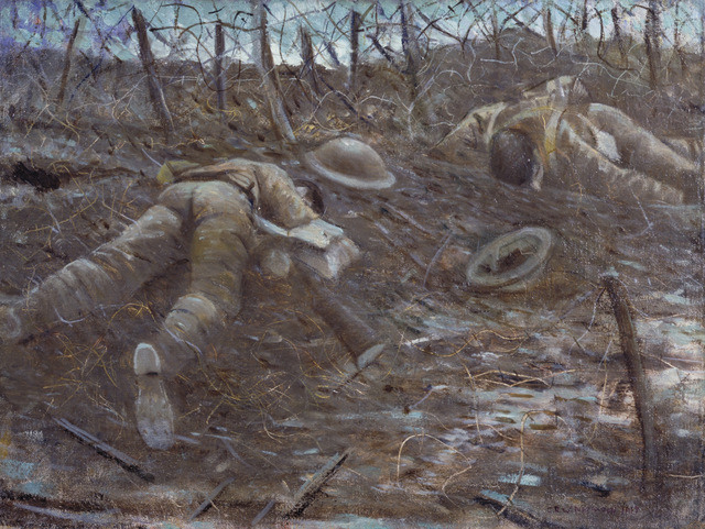 C.R.W. Nevinson, Paths of Glory, 1917
