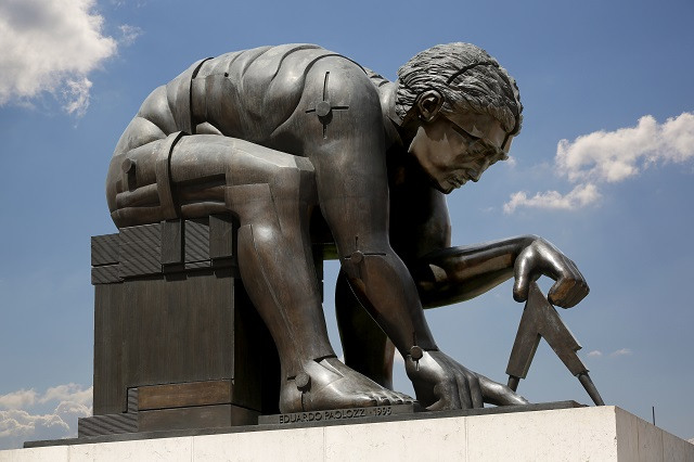 The statue of Isaac Newton outside the British Library gets the voice of actor Simon Russell Beale.
