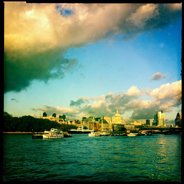 #MyLondon is basking in the last warmth of the day filling me with a longing for the next day, submitted by Paula