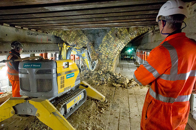 The Connaught tunnels in Silvertown were originally built in the 19th century. Closed since 2007, they are being integrated into the Crossrail route.