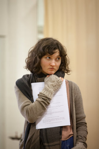 Ruby Bentall in rehearsal for Peter And Alice. Photo by Marc Brenner.