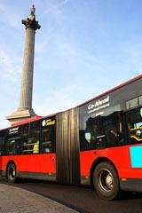 Bus passing Nelson's Column