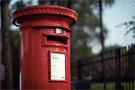 Red post box
