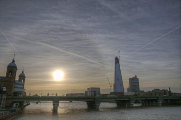 Sunrise over Cannon Street Railway Bridge