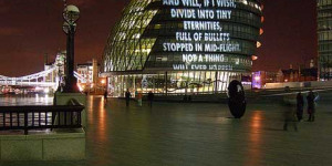 """For London"" Poetry Illuminates City"