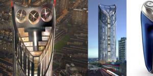 High-Razor Tower Begins Construction