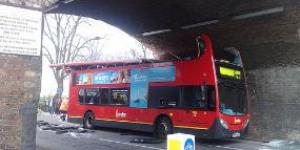 Kentish Town Bus Crashes Into Bridge