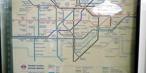 The Decade-Old Tube Map At Edgware Road