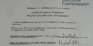 """Lewisham Deptford MP Joan Ruddock's Election Expenses Reveal Electoral Commission """"Loophole"""""""