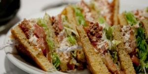 Sandwichist – Lobster Club Sandwich at Sotheby's Café