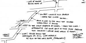 Hand-Drawn Maps Of London: A Cycling Diagonal