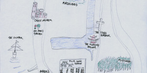 Hand-Drawn Maps Of London: Isle of Dogs