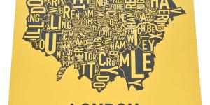 Santa's Lap: Typographic Maps Of London