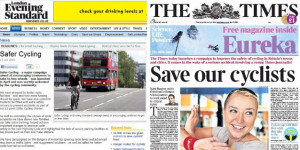Standard Criticises Times Cycling Campaign, Similar To Its Own