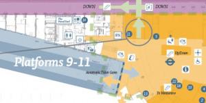 New King's Cross Map Shows Platform 9 3/4